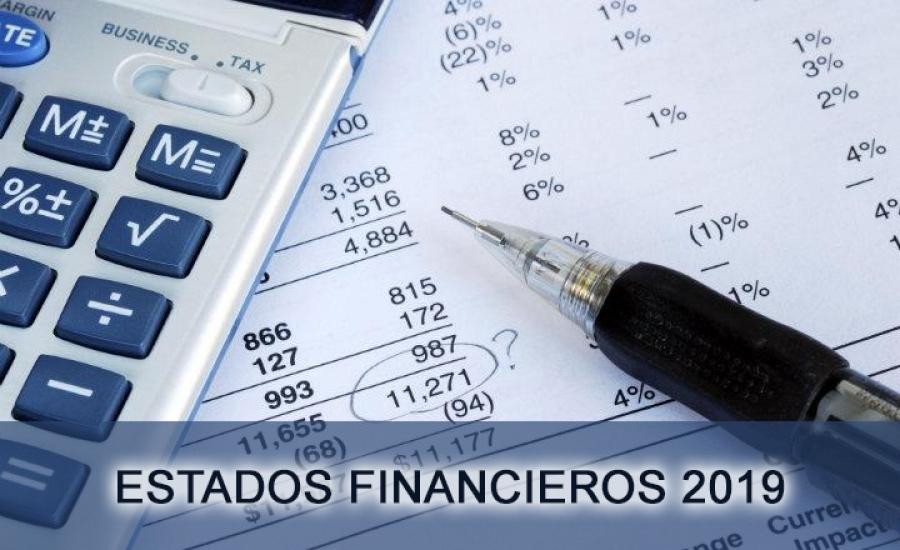 Estados Financieros Año 2019 No Auditados